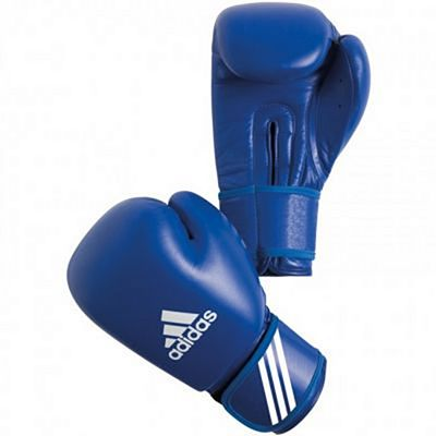 Adidas AIBA PU Boxing Gloves Blue