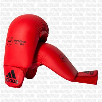adidas Approved Karate Sparring Mitts (No Thumb) Red