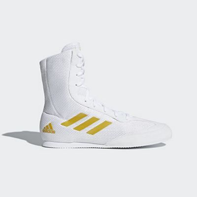 adidas Box Hog Plus Boxing Shoes Blanc-Or