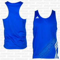 Adidas Top Boxeo Base Punch Azul-Blanco