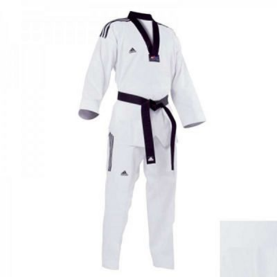 adidas Dobok Taekwondo Grand Master Black Collar White