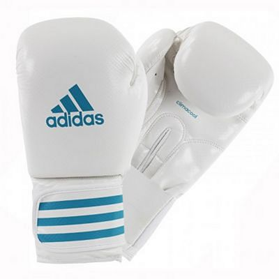 Adidas Female Power 200 Boxing Gloves Vit-Blå