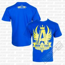 Ansgar Born To Fight T-shirt Blu-Giallo