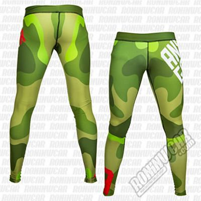 Ansgar Leggings Logo Military Camo Verde