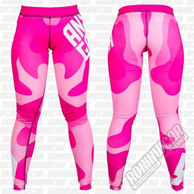 Ansgar Leggings Logo Military Camo Rosa