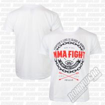 Ansgar T-shirt MMA Fight Bianco