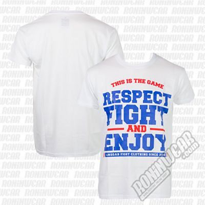 Ansgar T-shirt Respect Fight Blanco