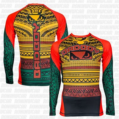 Bad Boy Art Of Lua Rashguard Zöld-Piros
