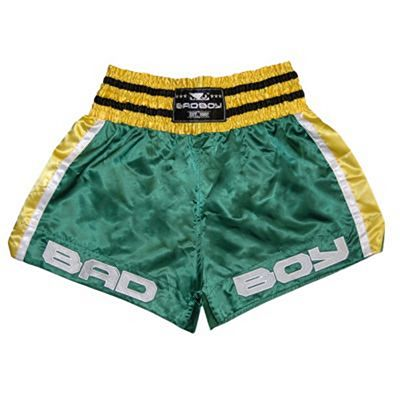 Bad Boy Chok Muay Thai Shorts Green-Yellow