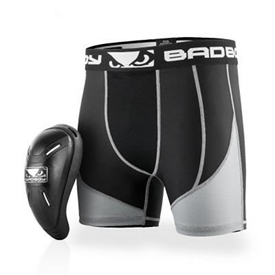 Bad Boy Full Guard Compression Short & Cup Negro