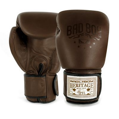 Bad Boy Heritage Thai Boxing Gloves Marron