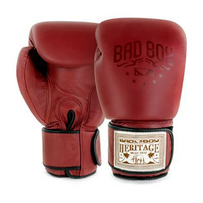 Bad Boy Heritage Thai Boxing Gloves Rojo