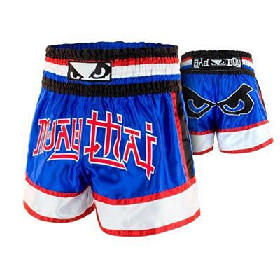 Bad Boy Kao Loy Muay Thai Shorts Blau-Rot