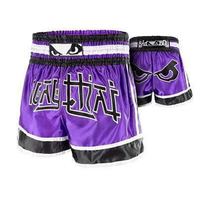 Bad Boy Kao Loy Muay Thai Shorts Lila-Schwarz