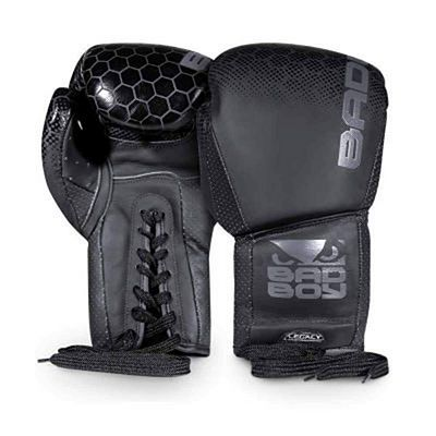 Bad Boy Legacy 2.0 Boxing Gloves Lace Up Negro