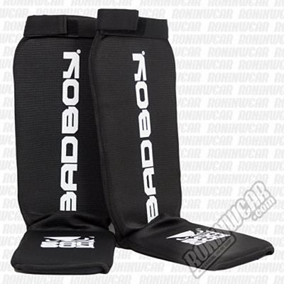 Bad Boy Material Shin Guards Black