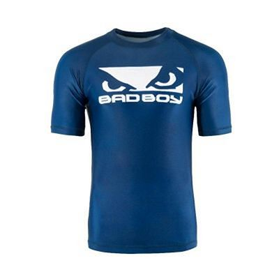 Bad Boy Origin Rashguard Short Sleeve Blå-Vit