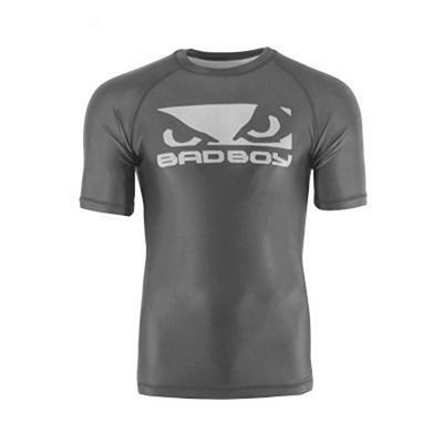 Bad Boy Origin Rashguard Short Sleeve Charcoal Cinza