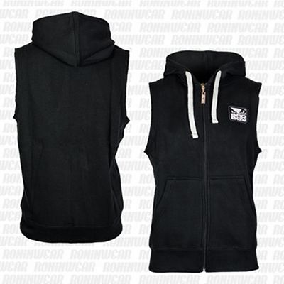 Bad Boy Sleveless Hoodie Black