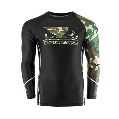 Bad Boy Soldier Rashguard Preto-Verde