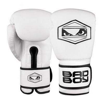 Bad Boy Strike Boxing Gloves White