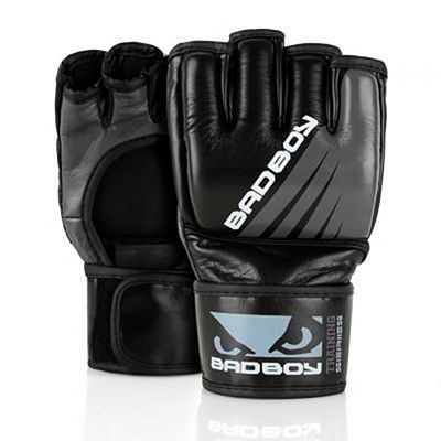 Bad Boy Training Series Impact MMA Gloves No Thumb Schwarz-Grau