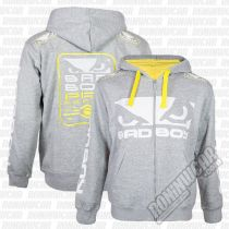 Bad Boy Walk In 2.0 Hoodie Gris-Amarillo