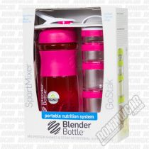 BlenderBottle Combo Sportmixer 820ml & GoStak 4 Pack Rosa