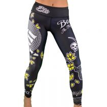Boa Esportiva Women Leggings As Maos Da Morte Preto