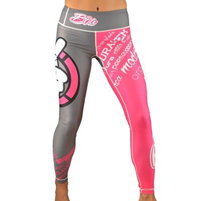Boa Esportiva Women Leggings Gris-Rosa