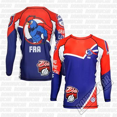 Boa Rashguard French Connection LS Azul-Rojo