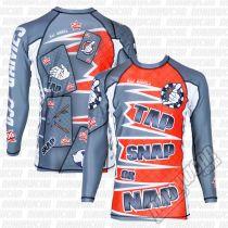 Boa Tap Snap Or Nap L/S Rashguard Vermelho-Cinza