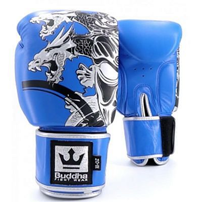 Buddha Amateur Competition Dragon Boxing Gloves Blue