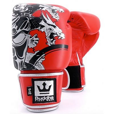 Buddha Amateur Competition Dragon Boxing Gloves Red