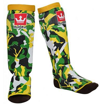 Buddha Army Padded Sock Shinguards Yellow