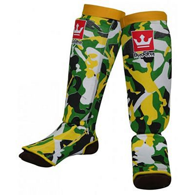 Buddha Army Padded Sock Shinguards Amarelo