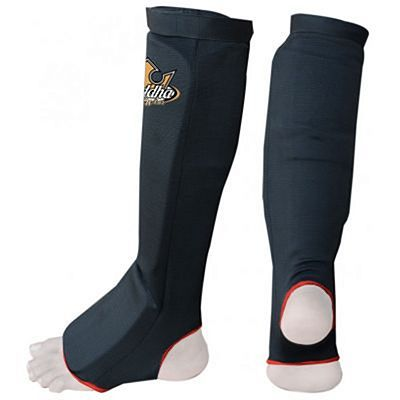 Buddha Cloth Shin & Instep Guards Black