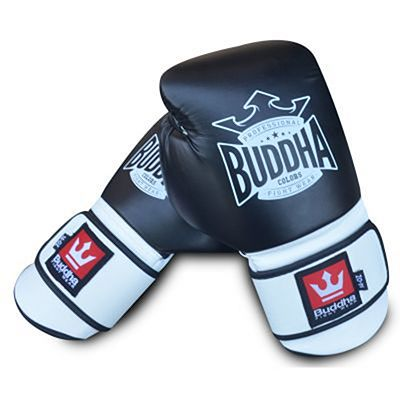 Buddha Colors Boxing Gloves Black