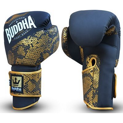 Buddha Combo Boxing Gloves Black-Gold