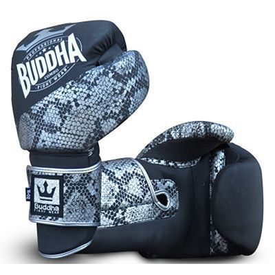 Buddha Combo Boxing Gloves Black-Silver