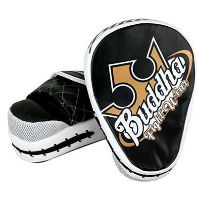 Buddha Curved Focus Mitts Black-White