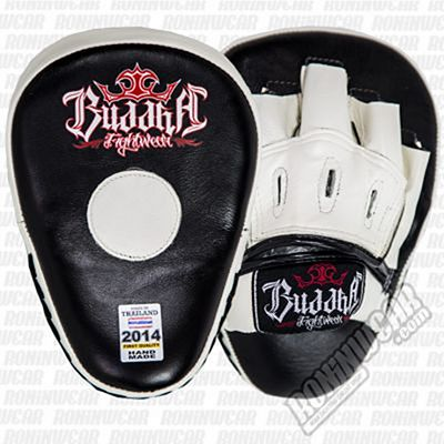 Buddha Curved PU Focus Mitts Black-White