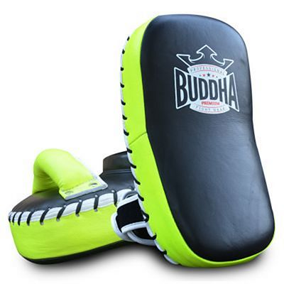 Buddha Curved Thai Pads S Leather Fekete-Zöld