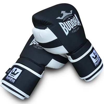Buddha Emperator Boxing Gloves Black-White