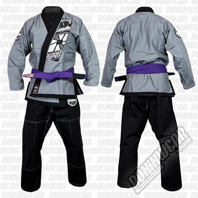 Buddha Kimono BJJ Extra Combo 2 Chaquetas Schwarz-Silber