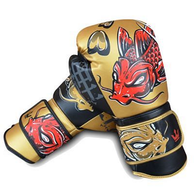 Buddha Fantasy Koy Boxing Gloves Gold