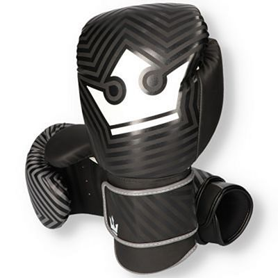 Buddha Fantasy Maze Boxing Gloves Black-White