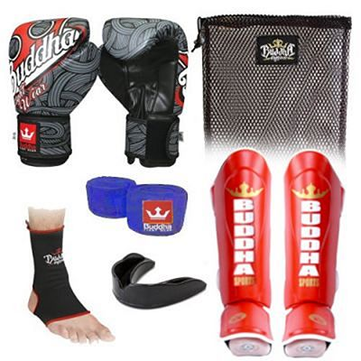 Buddha Fantasy Tattoo 2.0 Kickboxing Starter Pack Black-Grey