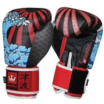 Buddha Fantasy Tsunami Boxing Gloves Red-Black