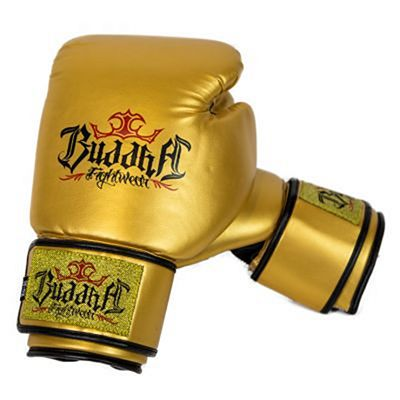 Buddha Fight Boxing Gloves Gold